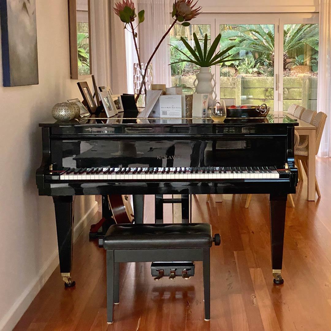 Black Grand Piano Made By Kawai