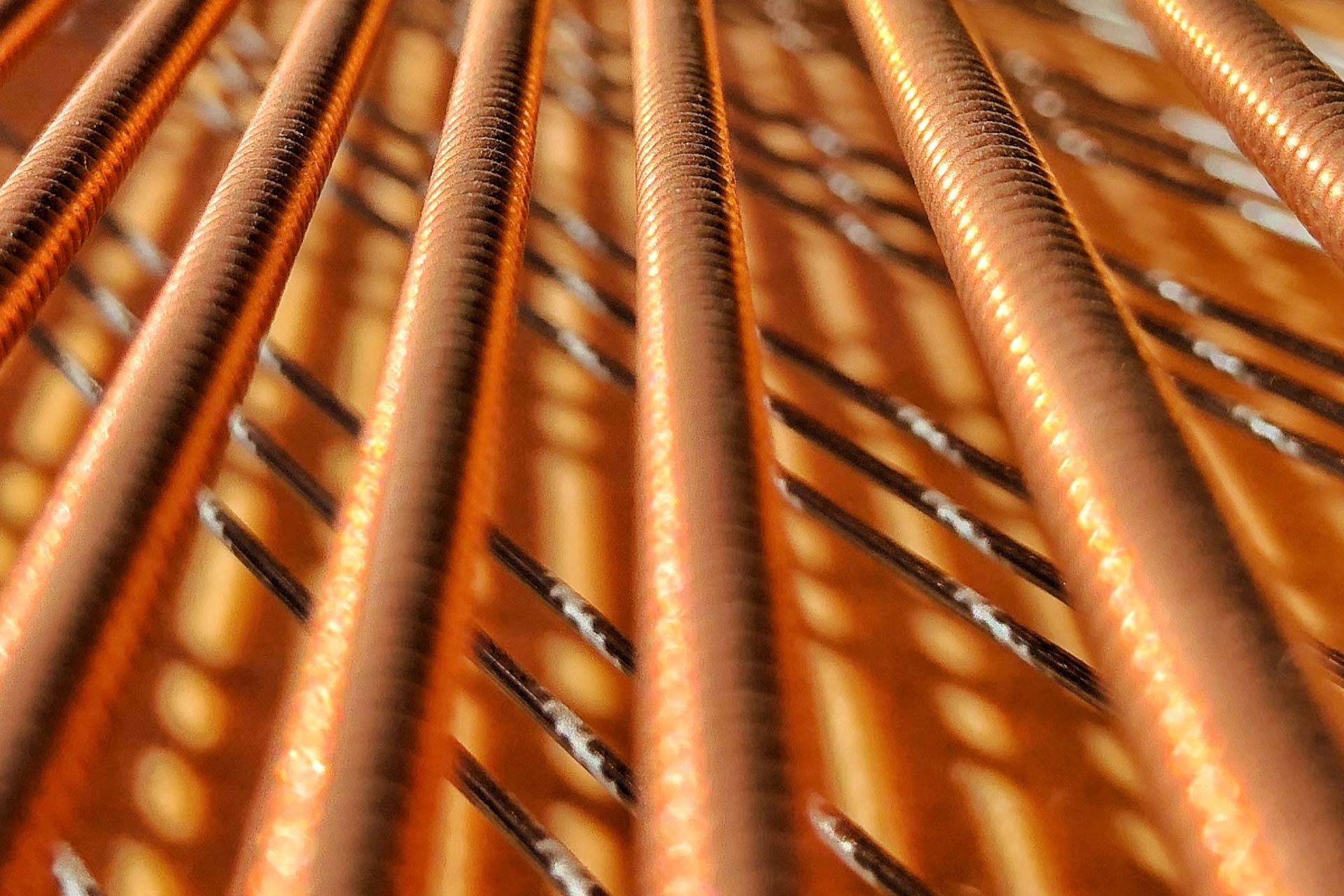 Close Up Of Grand Piano Strings